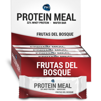 Barrita Protein Meal Frutas del Bosque Caja 12 uds Power Diet